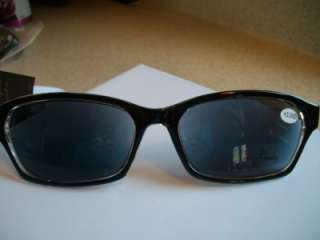 Readers Tinted Reading Glasses +2.00 Black Clear Georgio Caponi B8