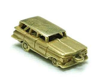 Vintage 14k yellow Gold 50s Station Wagon Car Charm