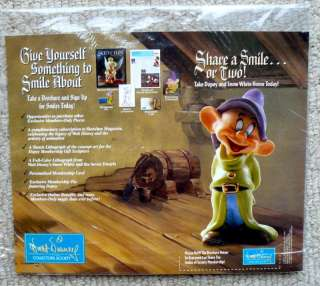 WDCC DOPEY MEMBERSHIP SNOW WHITE DISNEY COUNTER CARD