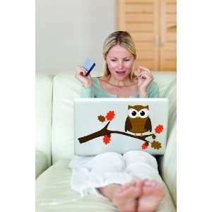 Removable Wall Decals   Owl on a Branch Laptop