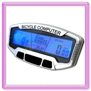 Blue LCD Bicycle Bike Computer Odometer Speedometer