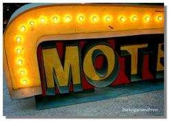 Tin Metal MOTEL arrow lighted antique retro style sign Rt 66 vintage