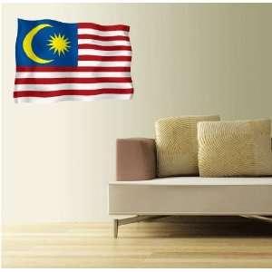 MALAYSIA Flag Wall Decal Room Decor Sticker 25 x 18