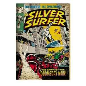Marvel Comics Retro Silver Surfer Comic Book Cover #13