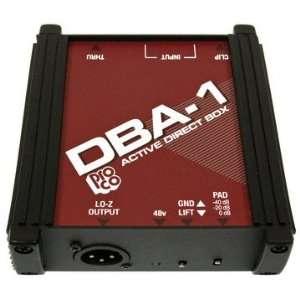 Pro Co DBA1 (Professional Active DI Box) Musical