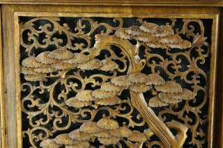ORNATE ANTIQUE CHINESE WINDOW SCREEN CARVED FOLK ART