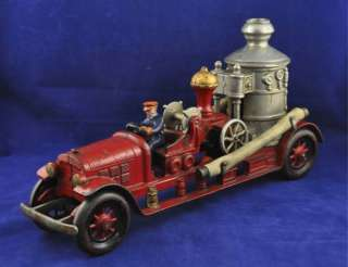 JC3 NICE Vintage 1930s Kenton Cast Iron Fire Pumper Truck / Engine