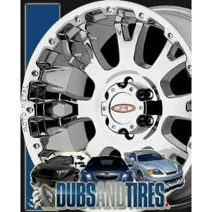 18 Inch 18x9 MOTO METAL wheels MO956 Chrome wheels rims