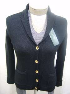 Polo Ralph Lauren Womens Cardigan Cable Knit Button Shawl Sweater