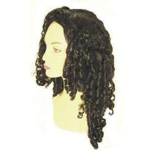 Black Spiral Curly Fancy Dress Wig Inc FREE Wig Cap Toys