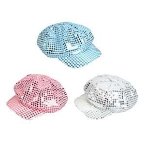 Assorted Pastel Sequin Foil Newsboys Hats Toys & Games