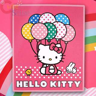 Sanrio Hello Kitty Fleece Throw Blanket Balloons in Pink 50x60