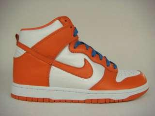 Nike Dunk High Orange White Blue Mens Sneaker