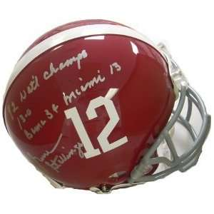 Gene Stallings Alabama Crimson Tide Authentic Helmet 3 insc