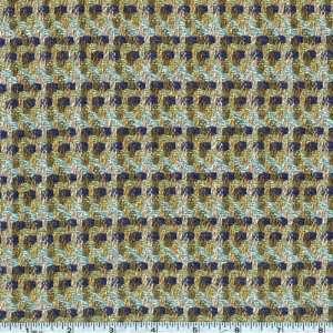 56 Wide Wool Blend Suiting Fairfax Blue/Green/Sky Fabric