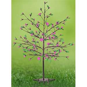 Pink LED Cherry Blossom Tree 90 Flowers with Foliage