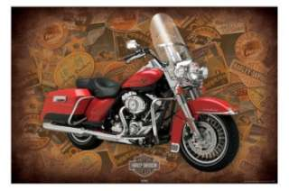HARLEY DAVIDSON Motorcycles POSTER Red Cruiser Bike NEW