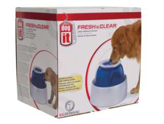 FRESH&CLEAR LARGE DRINKING FOUNTAIN DOG DISH WATER BOWL
