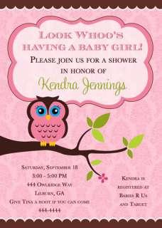 BABY SHOWER INVITATIONS U PRINT MANY DESIGNS FAST