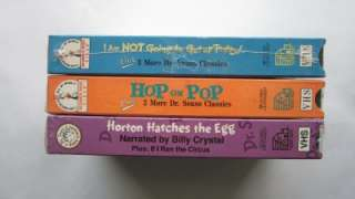 Vtg Dr Seuss Video Tapes VHS UNUSED Kids Cartoon Movie Hop on Pop