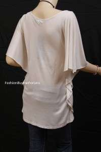 Lane Bryant Seven 7 Luxe Plus Flutter Batwing Sleeve Tunic Blouse T