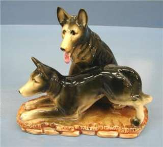 Vintage Porcelain Alsation German Shepherd Dog figurine