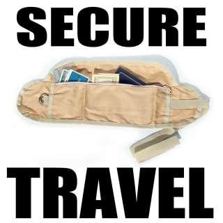 Coghlans Money Belt Travel Waist Bag Pocket Passport Pouch Brown