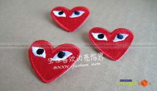 New Women Men Fashion Red Heart Brooch Button Badge Pin