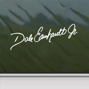 Dale Jr 88 Signature White Sticker Car Vinyl Window Laptop