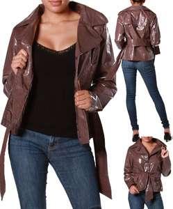 Leather Motorcycle Biker Jacket Camel Caramel Brown Hot New S M L XL