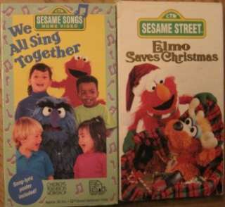 LOT 16 VHS Videos SESAME STREET ELMOS WORLD BIG BIRD