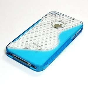 Cosmos ® Clear/Light Blue TPU soft/hard case cover for