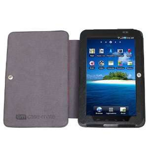 Case Mate Galaxy Tab Venture Case   Black with Red Accents
