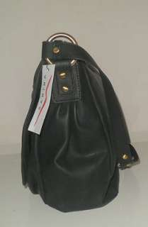 SABINA NEW YORK HANDBAG BLACK FLAP BAG CHAIN LINK STRAP SIMULATED