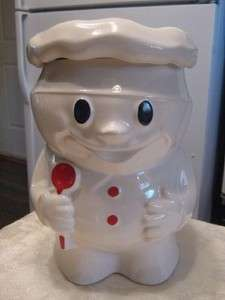 BOB BAKER FIGURAL PILLSBURY DOUGH BOY COOKIE JAR GREAT PAINT NICE