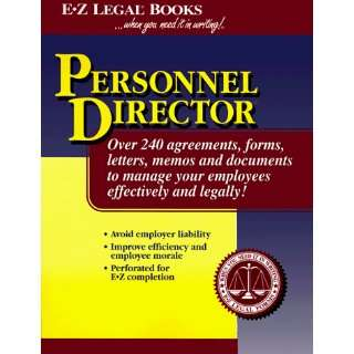 Personnel Director (9781563823022) Sondra Servais Books