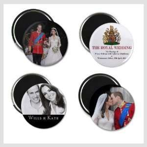 William Kate Middleton Royal Wedding 4 pack Of 2.25 Inch Fridge