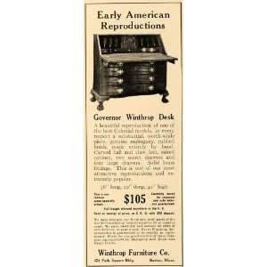 1926 Ad Governor Winthrop Desk Furniture Company Wood
