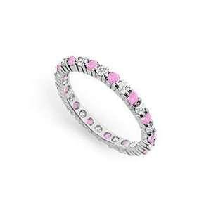 Elite Jewelry 6295176 Pink Sapphire and Diamond Eternity
