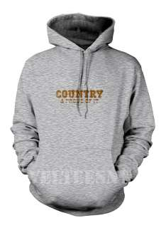 Country and Proud Of It  Farm Work Redneck Funny Rebel   Mens