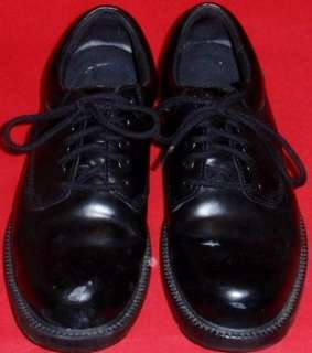 USED Mens SKECHERS WORK SCHOLARS Black Leather Oxford Shoes 9.5