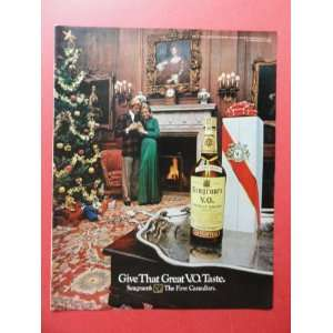Seagrams V.O. whiskey,1972 print advertisement (man/woman
