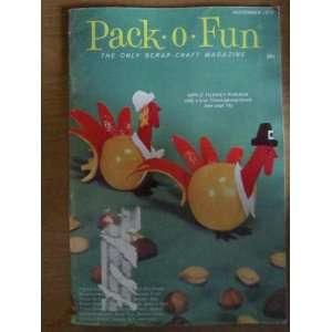 Pack o Fun Scrap Craft Magazine November 1973 Everything