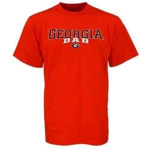 NCAA Georgia Bulldogs Red Team Dad T shirt Sports