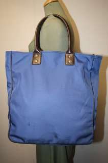 BANANA REPUBLIC COATED NYLON BLUE EXTRA LARGE SHOPPER TOTE BAG UTILITY