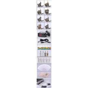 Eight Gun Tattoo Kit 12 Coil Machine LCD   Copper Series