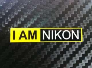 AM Nikon decal adhesive sticker lens Hood car camera 3 Black IAMNIKON