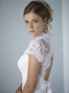 Custom made white/ivory lace A line wedding bridal dress formal gown