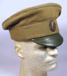 WW1 RUSSIAN IMPERIAL CZAR ARMY OFFICER FIELD VISOR CAP