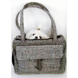 Teddy Convertible Pet Carrier   Salt and Pepper Silk Tweed